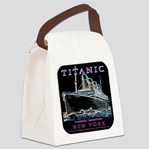 Titanic Neon (black) Canvas Lunch Bag