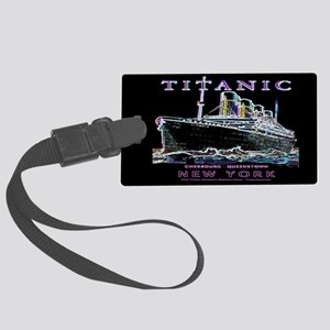 Titanic Neon (black) Large Luggage Tag
