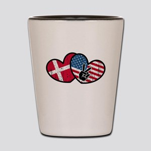 danish american Shot Glass