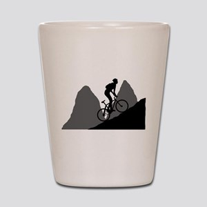 Mountain Biking Shot Glass