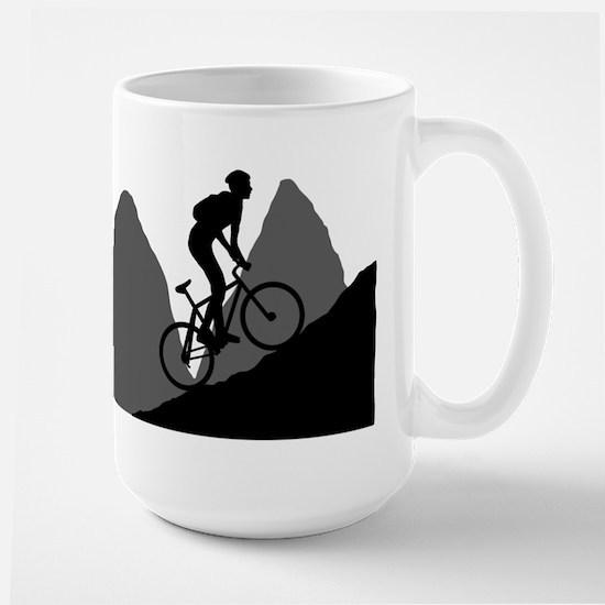 Mountain Biking Large Mug