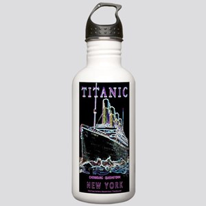 Titanic Neon (black) Stainless Water Bottle 1.0L