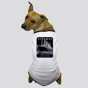 Titanic Neon (black) Dog T-Shirt