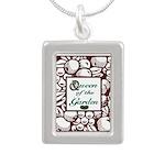 Queen of the Garden Silver Portrait Necklace