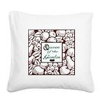 Queen of the Garden Square Canvas Pillow