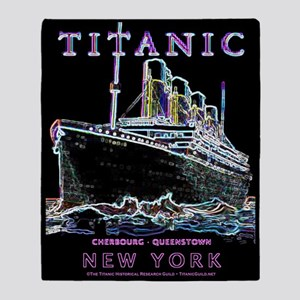 Titanic Neon (black) Throw Blanket