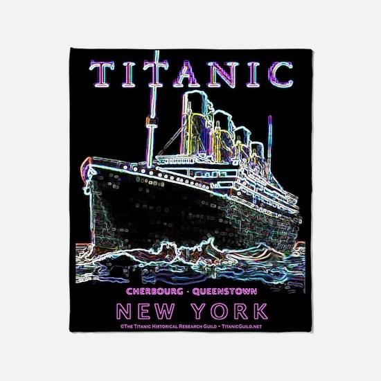 Titanic Neon (black) Throw Blanket