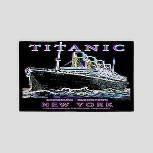 Titanic Neon (black) 3'x5' Area Rug
