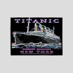 Titanic Neon (black) 5'x7' Area Rug