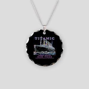 Titanic Neon (black) Necklace Circle Charm