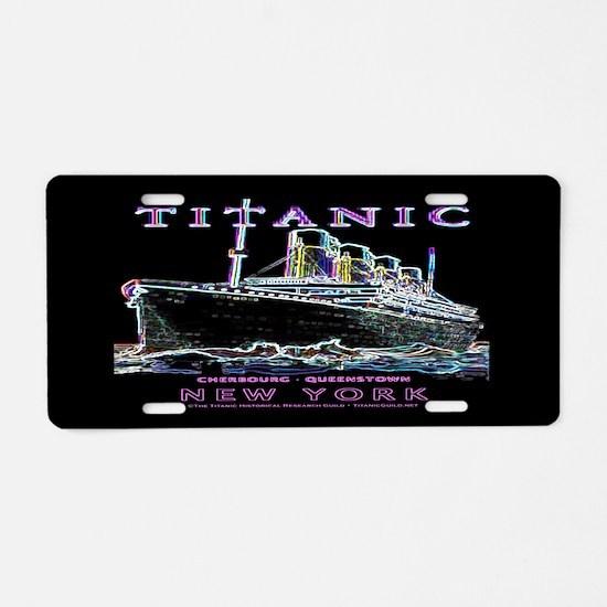 Titanic Neon (black) Aluminum License Plate