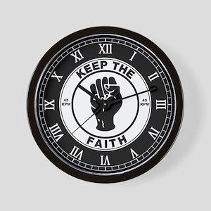 keepthefaithclock2 Wall Clock