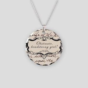 Obstinate Elizabeth Bennet Necklace Circle Charm