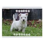 Westie Puppy Calendar Wall Calendar