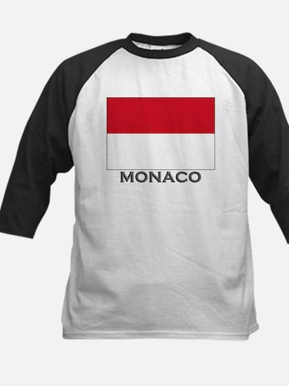 Monaco Flag Stuff Kids Baseball Jersey