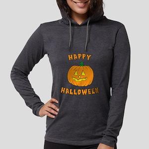 Happy Halloween Dark Womens Hooded Shirt