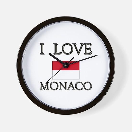 I Love Monaco Wall Clock