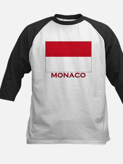 Monaco Flag Merchandise Kids Baseball Jersey