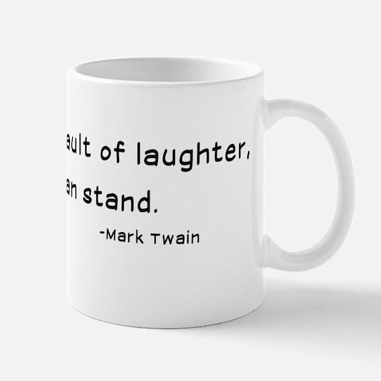 Mark Twain Laughter Quote - Black Mug