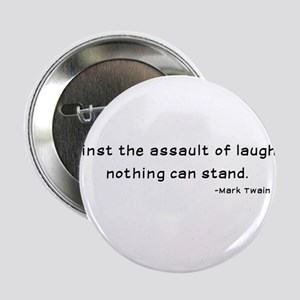 "Mark Twain Laughter Quote - Black 2.25"" Button"