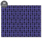 Purple and Black Goth Cat Pattern Puzzle