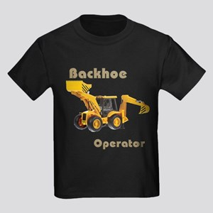 Backhoe Kids Dark T-Shirt
