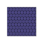 Purple and Black Goth Cat Pattern Square Sticker 3