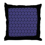 Purple and Black Goth Cat Pattern Throw Pillow