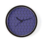 Purple and Black Goth Cat Pattern Wall Clock