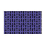 Purple and Black Goth Cat Pattern 35x21 Wall Decal