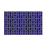 Purple and Black Goth Cat Pattern 20x12 Wall Decal