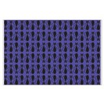 Purple and Black Goth Cat Pattern Large Poster