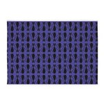 Purple and Black Goth Cat Pattern 5'x7'Area Rug