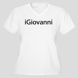 iGiovanni Women's Plus Size V-Neck T-Shirt