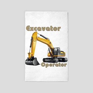 The Excavator 3'x5' Area Rug
