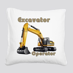 The Excavator Square Canvas Pillow
