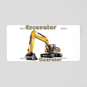 The Excavator Aluminum License Plate