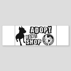Adopt Dont Shop Sticker (Bumper)