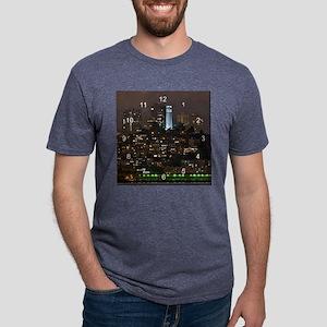 coit tower clock 2 Mens Tri-blend T-Shirt