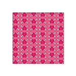 Pink Heart Crossbones Square Sticker 3
