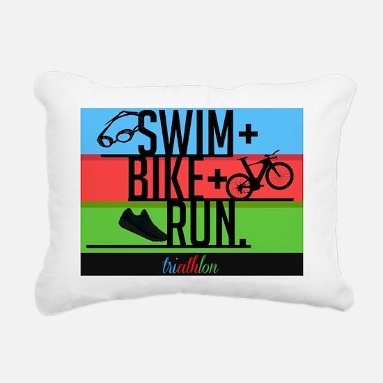 Unique Triathlon Rectangular Canvas Pillow