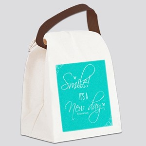 Smile! its a New Day Canvas Lunch Bag