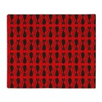 Red and Black Goth Cat Pattern Throw Blanket