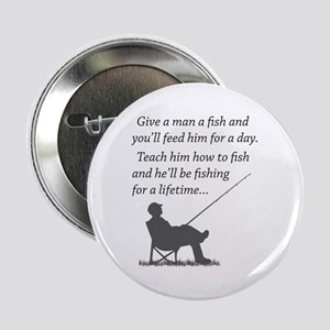 """Fishing for a Lifetime 2.25"""" Button"""
