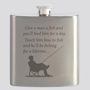 Fishing for a Lifetime Flask