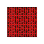 Red and Black Goth Cat Pattern Square Sticker 3