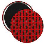 Red Black Goth Cat 2.25