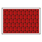Red and Black Goth Cat Pattern Banner