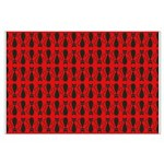 Red and Black Goth Cat Pattern Large Poster