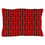 Red and Black Goth Cat Pattern Pillow Case